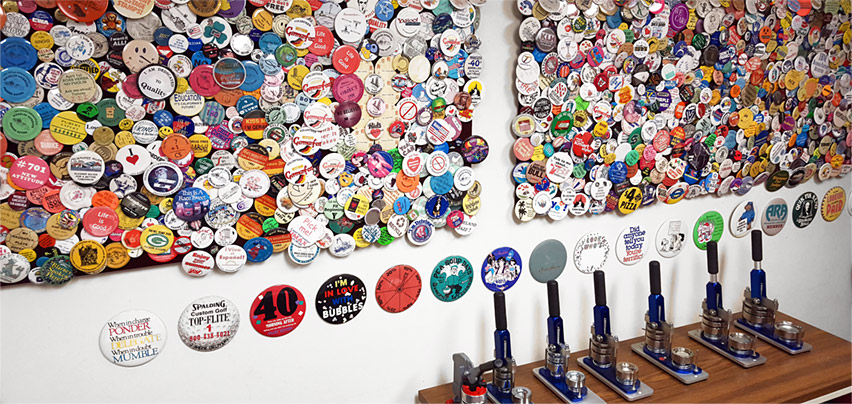 USA Buttons, Inc. factory show room