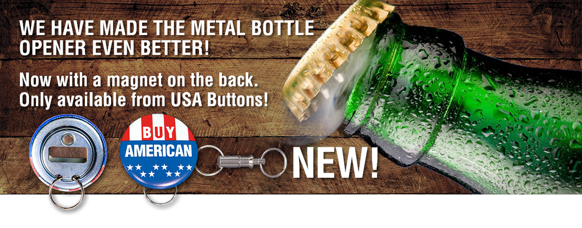 Button Bottle Opener with Magnet
